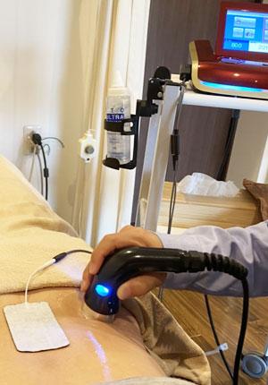 超音波&ハイボルテージコンビネーション治療